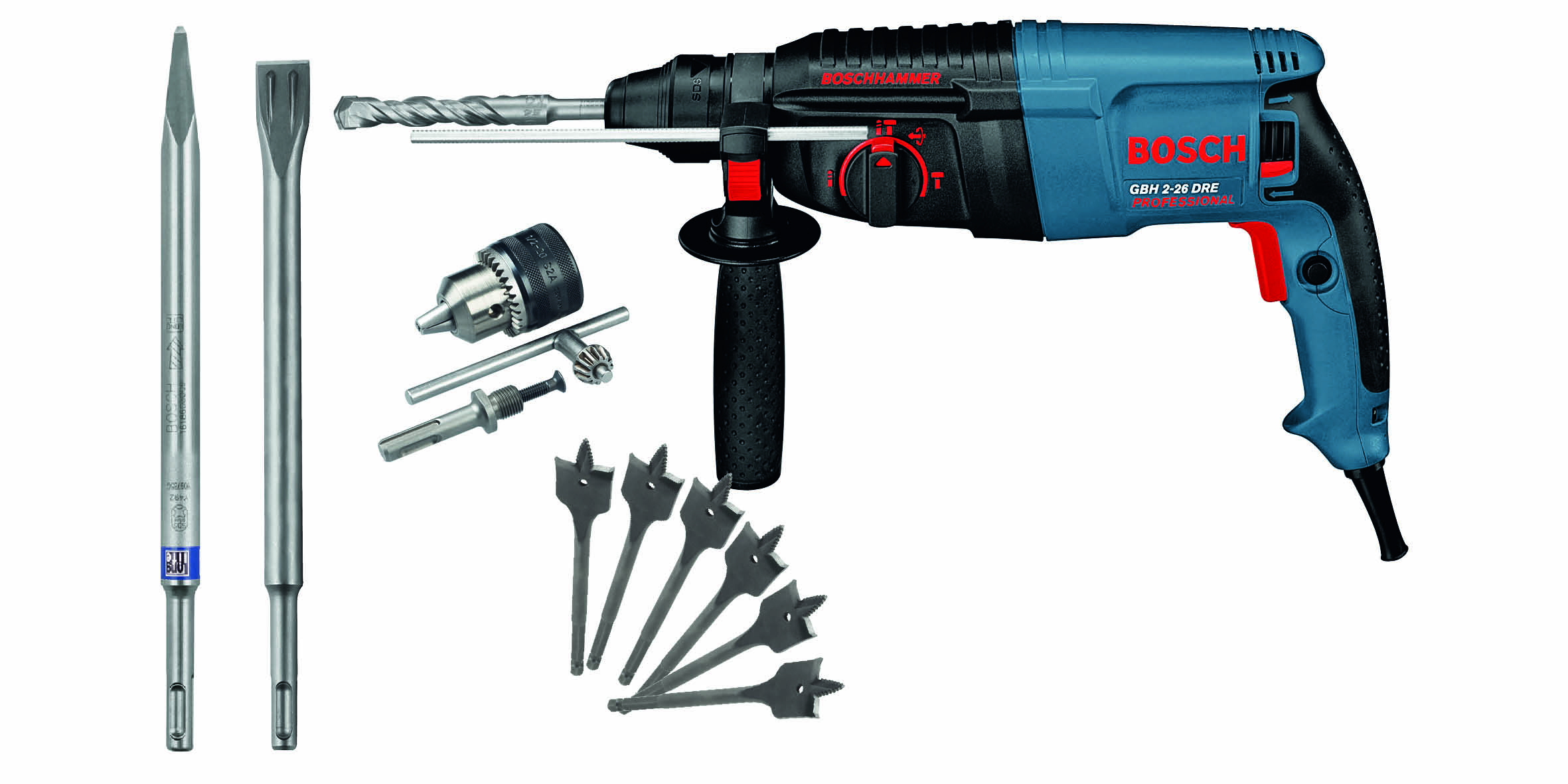 Bosch Gbh 746 De Rotary Hammer He Sturdy Power Pack The Bor 3 28 Dre 800w Mode