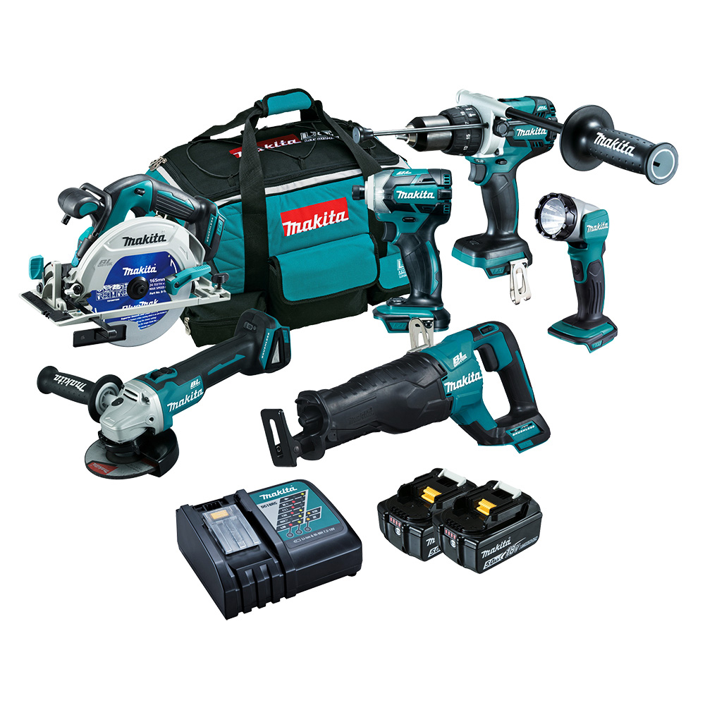 makita dlx6063t brushless 6 piece kit power tool shop. Black Bedroom Furniture Sets. Home Design Ideas